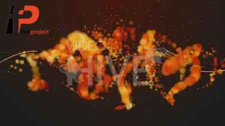 3D TextEvolutions V3 Fire.58430 - پروژه آماده افترافکت: نمایش بسیار زیبای لوگو از ذرات درخشان و آرامش بخش