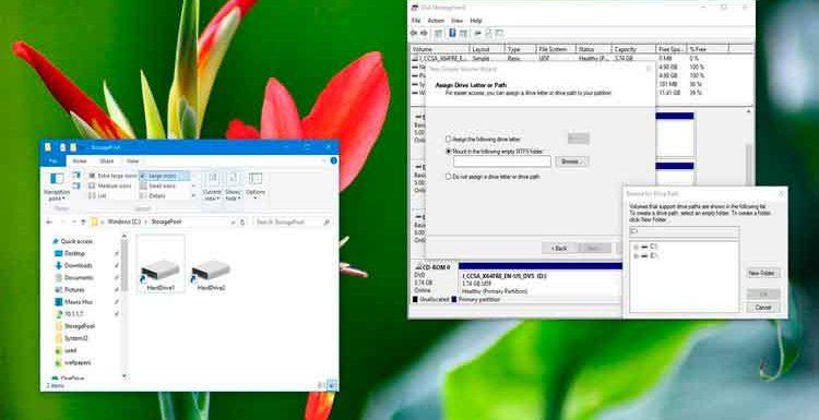 چگونه در ویندوز ۱۰ هارد دیسک را مانند یک پوشه سازماندهی کنیم؟