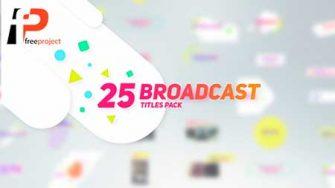 25 Broadcast Titles Pack Preview Image 335x188 - پروژه آماده افترافکت-  25 عنوان زیبا جهت پیش نمایش تصاویر