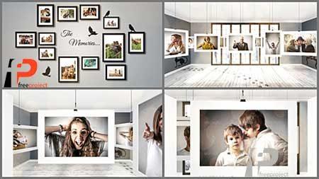 گالری عکس سه بعدی با افترافکت