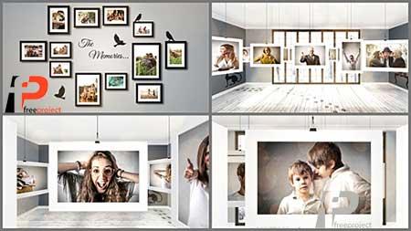 دانلود رایگان پروژه آماده افترافکت ویژه ساخت حرفه ای گالری عکس در یک اتاق واقعی