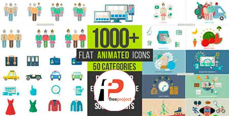Flat Animated Icons 1000