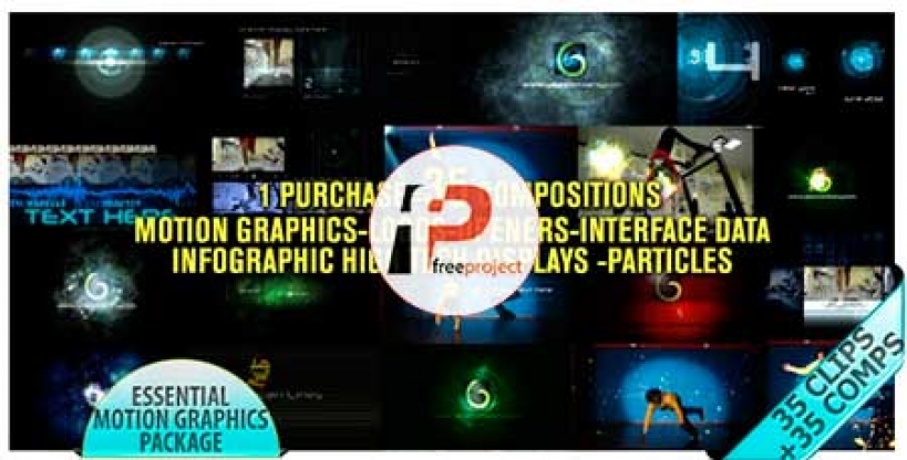 Motion Graphic Displays And Particles Bundle Pack