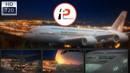 پروژه آماده افترافکت – نمایش لوگو و نشان تجاری بر روی بدنه هواپیما