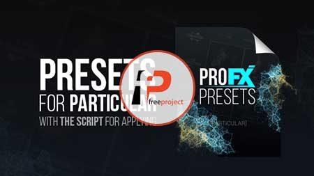 PRO FX PRESETS PARTICULA