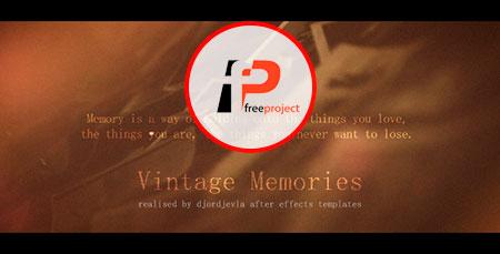 freeproject vintage memories - دانلود پروژه آماده افترافکت- ساخت آلبوم نوستالژیک عکس با عنوان گفتگوی خاطرات
