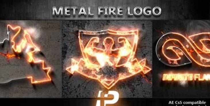 پروژه آماده افترافکت تیزر نمایش لوگوی فلزی آتشین
