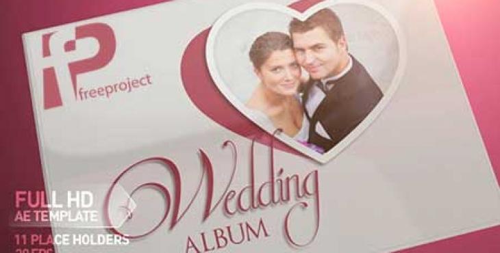 آلبوم عکس عروسی با افترافکت