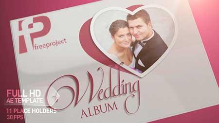پروژه آماده افترافکت ساخت حرفه ای  آلبوم عکس عروسی