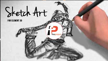 پروژه آماده افترافکت- طراحی حرفه ای تصویر شما بصورت سیاه قلم توسط طراح افترافکت
