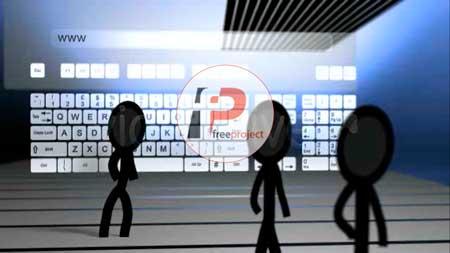 پروژه آماده افترافکت- تیزر معرفی آدرس و موضوع سایت اینترنتی