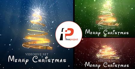 پروژه آماده افترافکت- تیزر نمایش درخت کریسمس و تبریک سال جدید میلادی