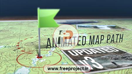 پروژه آماده افترافکت ویژه مشخص کردن مسیر بر روی نقشه به صورت سه بعدی نسخه 3