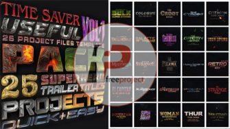 FreeProject 25 superhero trailer titles pack AE259 335x188 - پروژه آماده افترافکت-پک ویژه ساخت عنوانهای تریلر فیلم های هالیوودی