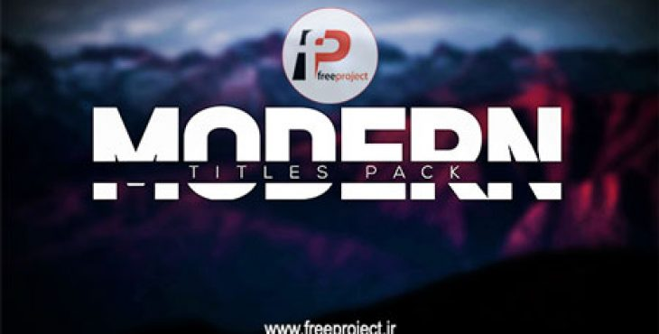 FreeProject Modern Intro Titles Pack lll AE231