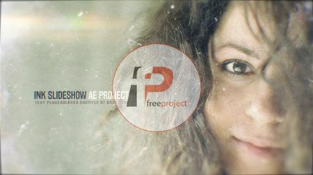 FreeProject ink slideshow AE244 - پروژه آماده افترافکت- اسلایدشو حرفه ای عکس با افکت حل شدن جوهر در آب