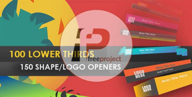 FreeProject lowerthird shape opener AE236 730x370 - مجموعه ای بی نظیر از 250 بنر، لوگو و اشکال متحرک تبلیغاتی جهت استفاده در موشن گرافیک