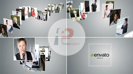 پروژه آماده افترافکت- تیزر نمایش لوگو با ترکیب شدن مجموعه عکس