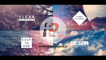 پروژه آماده افترافکت- اسلایدر بسیار زیبا و ترکیبی عکس و فیلم با پخش سریع