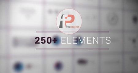 پروژه آماده افترافکت- مجموعه ویژه از 250 المان متحرک اینفوگرافیک پک 2