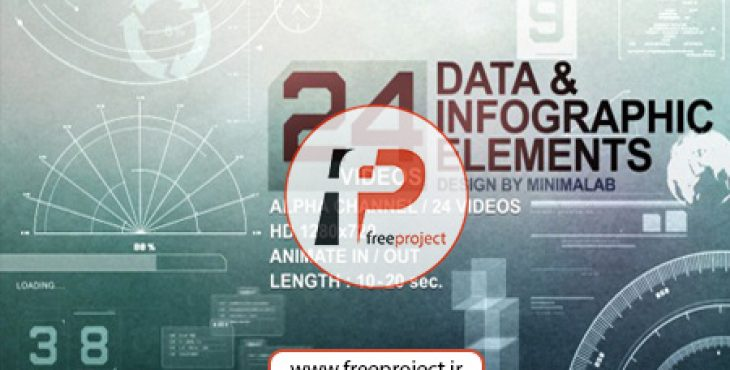 AE321 730x370 - پروژه آماده افترافکت-  مجموعه ای کاربردی از 24 ویدئوی اینفوگرافیک قرار گرفته در کانال آلفا