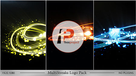 پروژه آماده افترافکت- تیزر حرفه ای نمایش لوگو با افکت های نورانی بسیاری زیبا در 3 قالب مختلف