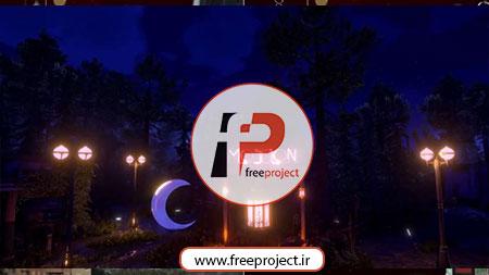 Ramadan07 - پروژه آماده افترافکت ویژه ماه مبارک رمضان با نمایش متن با نور نئون در تاریکی شهر 7