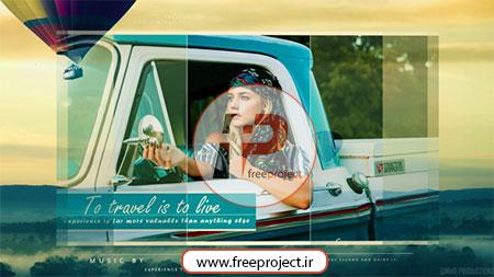 پروژه آماده افترفکت ویژه ساخت اسلایدشو حرفه ای با موضوع سفرنامه