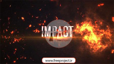 پروژه آماده افترافکت ویژه ساخت تریلر حرفه ای فیلم در قالب انفجار و آتش