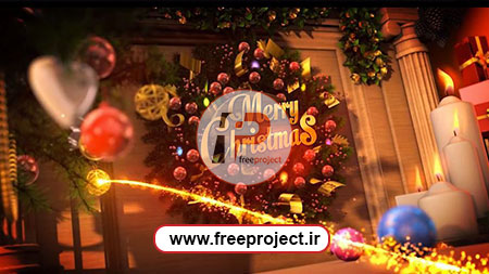 پروژه آماده افترافکت جهت ساخت آرم استیشن ویژه کریسمس و آغاز سال جدید میلادی