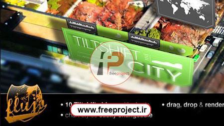 پروژه آماده افترافکت نمایش اطلاعات آماری در قالب یک شهر واقعی