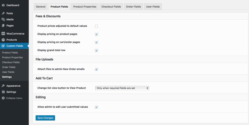 12 settings product fields 819x411 - افزونه فیلدهای سفارشی ووکامرس | Custom Fields