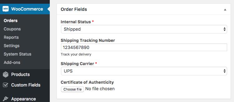 17 backend order fields - افزونه فیلدهای سفارشی ووکامرس | Custom Fields