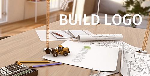 پروژه آماده افترافکت ویژه ساخت آرم استیشن ویژه معرفی مشاغل نقشه کشی صنعت و ساختمان Build Logo