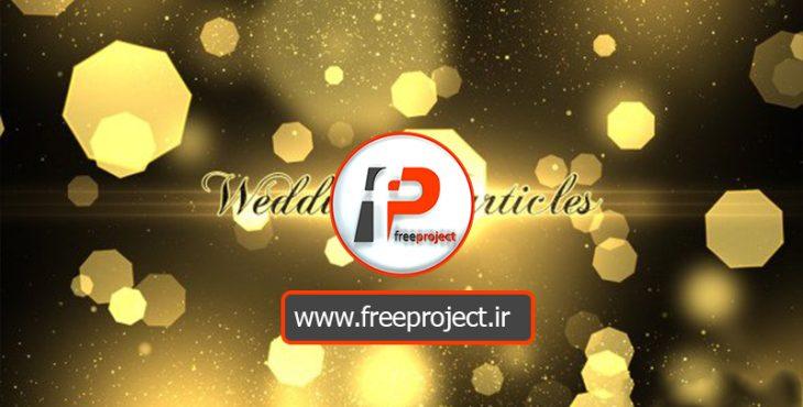 پروژه آماده افترافکت ویژه آلبوم عروسی و تبلیغات آتلیه های عروس و داماد با افکت ذرات درخشان طلایی | Wedding Particles Opener