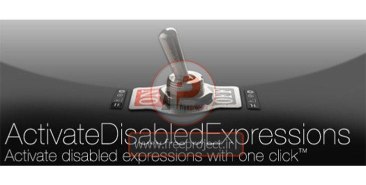 دانلود اسکریپت افترافکت  activatedisabledexpressions