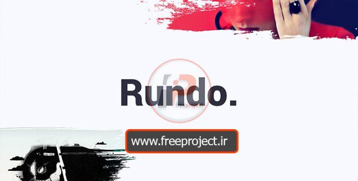 قالب آماده و خلاقانه پاور پوینت راندو | Rundo