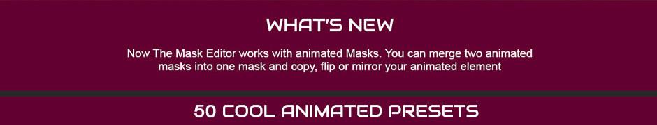 what s new - دانلود رایگان اسکریپت افترافکت Advanced Mask Editor v2 Promo