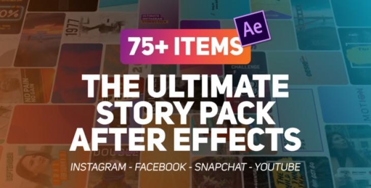 Videohive The Ultimate Story Pack 730x370 - پروژه افترافکت پک ویژه ساخت استوری برای اینستاگرام