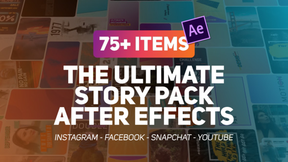Videohive The Ultimate Story Pack - پروژه افترافکت پک ویژه ساخت استوری برای اینستاگرام