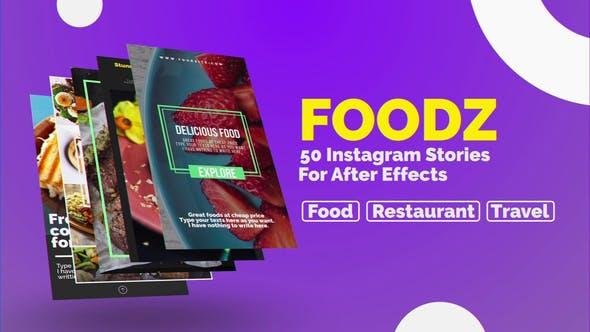 تبلیغات غذا در استوری اینستاگرام