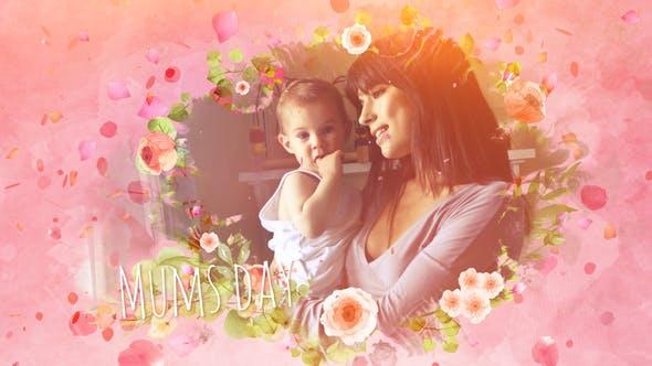 Mums Day Slideshow Image - پروژه آماده افترافکت ویژه ساخت اسلایدشو عکس مادر و کودک