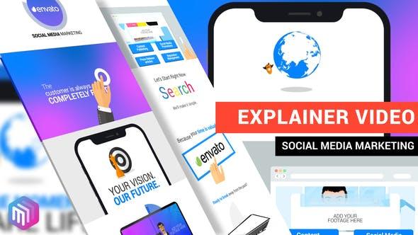 پروژه آماده افترافکت ویژه تبلیغ شبکه های اجتماعی