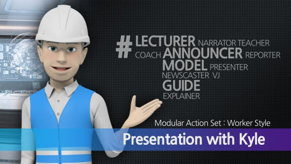 Presentation With Kyle Worker Style 19260275 1 1 - پروژه آماده افترافکت توضیح و معرفی کار در حوزه صنعت و اداری با استفاده از کاراکتر سه بعدی