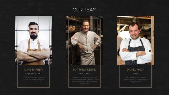 پروژه آماده افترافکت برای تبلیغات رستوران و منوی غذای رستوران