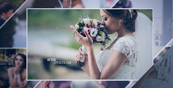 پروژه افترافکت برای ساخت اسلایدشو عکس عروسی
