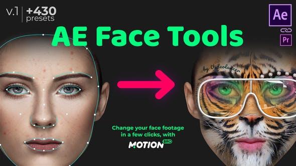 برنامه تغییر چهره حرفه ای در افترافکت