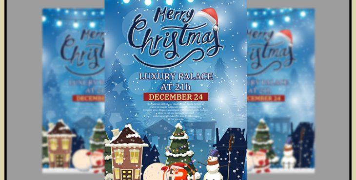 فایل وکتور برای ساخت پوستر با موضوع کریسمس 2020