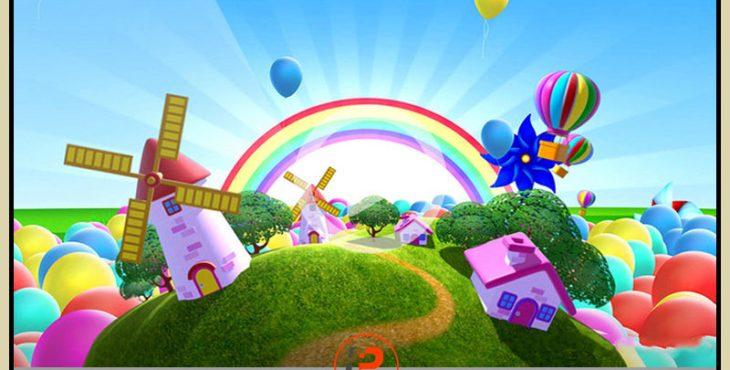 فوتیج آماده کره زمین کارتونی بصورت سه بعدی برای موضوعات کودک