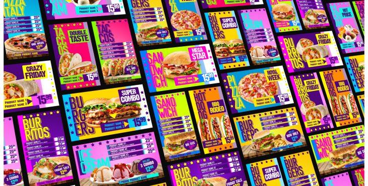 پروژه آماده افترافکت برای تبلیغات منوی غذای رستوران